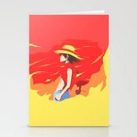 luffy Stationery Cards featuring Monkey D Luffy by Senior-X
