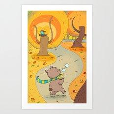 bear and honey  Art Print
