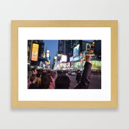 Take Times Square Framed Art Print