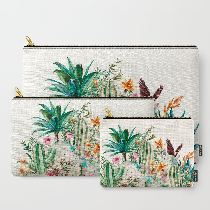 Blooming_in_the_cactus_CarryAll_Pouch_by_mmartabc__Set_of_3