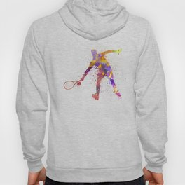 tennis player in silhouette 02 Hoody