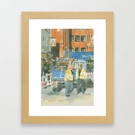Roadworks in Old Compton Street Framed Art Print