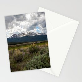 Journey to Leadville - View of Mount Massive on Summer Day in Colorado Stationery Cards