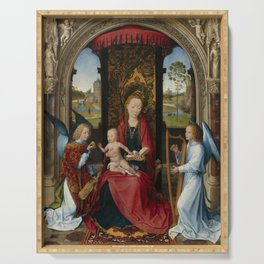 "Hans Memling ""Madonna and Child with Angels"" Serving Tray"