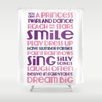 princess Shower Curtains featuring PRINCESS by Emmy Winstead