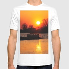 Silhouettes and Fire Mens Fitted Tee White MEDIUM