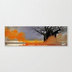 Black Tree Fire Canvas Print