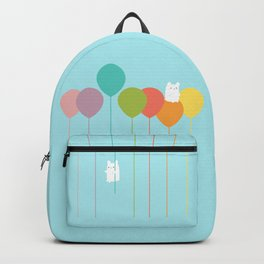 Fluffy bunnies and the rainbow balloons Backpack