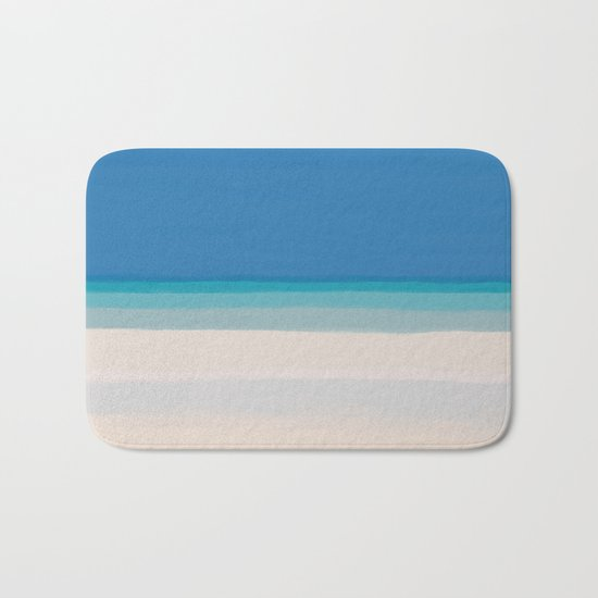 Dreamt Tropical Beach Design Bath Mat