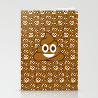 poop Stationery Cards featuring Poop Emoji by Fabian Bross