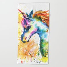 Unicorn Splash Beach Towel