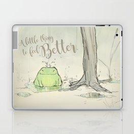The frog under the rain 2 Laptop & iPad Skin