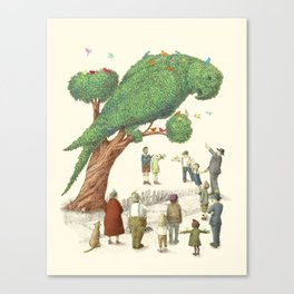 The Parrot Tree Canvas Print