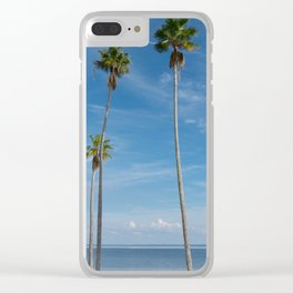 trees on the beach Clear iPhone Case
