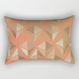 Geodes in peach Rectangular Pillow