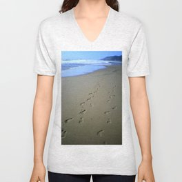 Footsteps in the Sand Unisex V-Neck