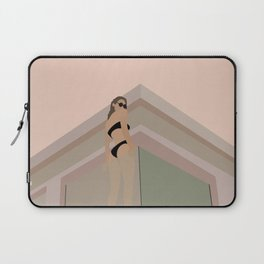 BATHING BABE   Fashion Illustration – Feminine Wall Art   Beach Print   Modern Wall Art   Digital D Laptop Sleeve