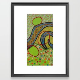 Untitled, green Framed Art Print