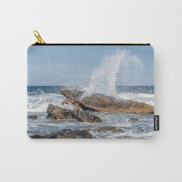 Wave crashing on the rocks 0819 Carry-All Pouch
