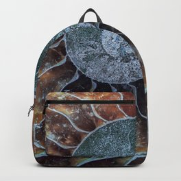 Spiral Ammonite Fossil Backpack