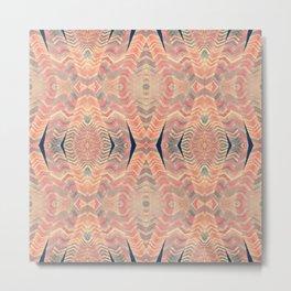 Tribal Pattern Turbans Metal Print