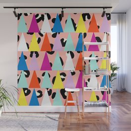 Triangle Animal Print in Blush Wall Mural