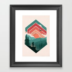 Divided Sky Framed Art Print