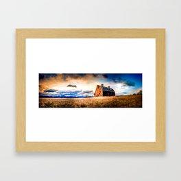 Blasdel Barn at Sunrise Framed Art Print