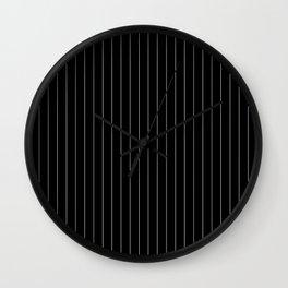 Black And White Pinstripes Minimalist Wall Clock