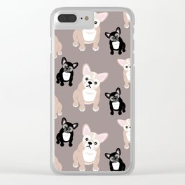 French Bulldog Puppies Clear iPhone Case