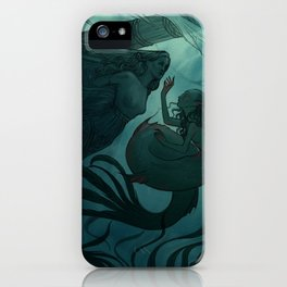 The day a mermaid found a shipwreck iPhone Case