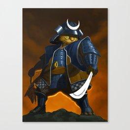 Bushido Cat Canvas Print