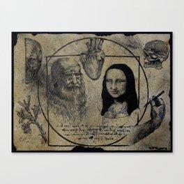 DA VINCI FLASH Canvas Print