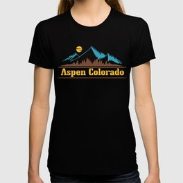 Native Colorado Gifts CO Pride State Flag Aspen T-shirt
