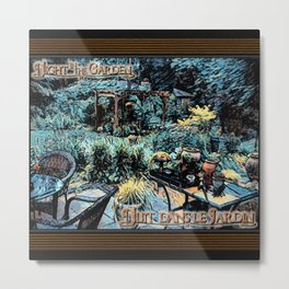 Night in the Garden Metal Print