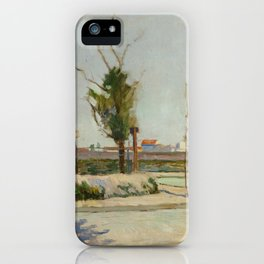 Road to Gennevilliers iPhone Case