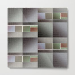 Abstract Collage Pattern Metal Print