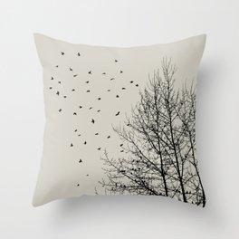 Come On Home - Graphic Birds Series, Plain - Modern Home Decor Throw Pillow