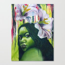 Green Lilly Canvas Print