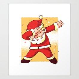 Santa Dab Art Print