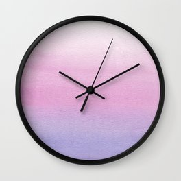 Watercolor Gradient Wall Clock