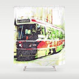 501 Street car Shower Curtain