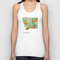 montana Tank Tops featuring Montana state map  by bri.buckley