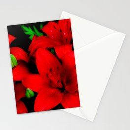 red lilies Stationery Cards
