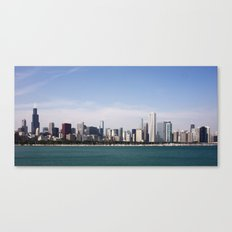 Chicago Skyline Day Photography Canvas Print