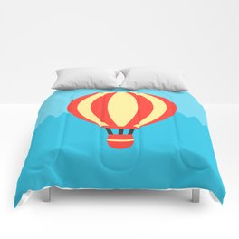 Classic Red and Yellow Hot Air Balloon Comforters