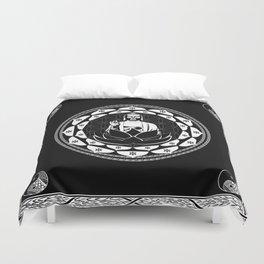Buddha Black & White Yin & Yang Flower Of Life Duvet Cover