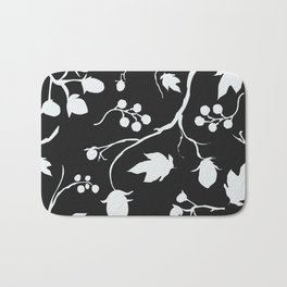 Floral Seamless Pattern. Hand Drawn Creative Sprays with berries Bath Mat
