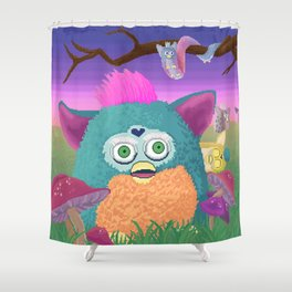 Furby Frontier Shower Curtain
