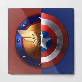 Wonder Woman/Captain America Metal Print